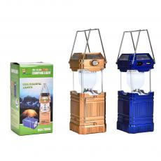 GSH-8009A,Folding 6+4+1 LED Lights Solar Rechargeable Lamps Lantern with USB Port for Camping