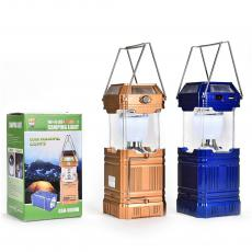 GSH-9009A,Folding 9+4+1 LED Lights Solar Rechargeable Lamps Camping Lantern with USB Port