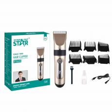 ST-5635 New Arrival WINNING STAR Rechargeable UV Hair Clipper with 290# Motor 18650 Lithium Battery 1500mAh Digital Display 4-Speed Guide Comb*6 Brush Oil Bottle USB Charging Wire