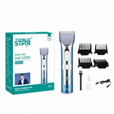 ST-5636 New Arrival WINNING STAR Rechargeable UV Hair Clipper with 290# Motor 18650 Lithium Battery 1500mAh Digital Display 4-Speed Guide Comb*4 Brush Oil Bottle USB Charging Wire