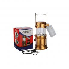 G5888 Rechargeable Solar Camping Lantern With SMD2835*12 USB Interface Egg Tube Charging Line Round Plug