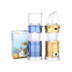 YX-5699COB Rechargeable Solar Camping Lantern With Annular Tube Egg Tube USB Interface
