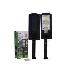 JX-168A New Arrival 2 70W Square COB Solar Wall Lamp Street Lamp with PET Solar Panel Human Infrared Sensing Function Night Light Built-in 2 18650 Lithium Batteries 2400mAh 3 Step Press-Button Switch Strong/Weak Light Rotatable Adjustable B