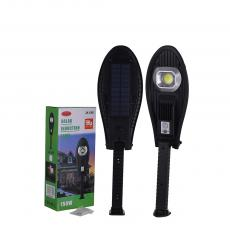 JX-668 New Arrival 70W Round COB Solar Wall Lamp Street Lamp with PET Solar Panel Human Infrared Sensing Function Night Light Built-in 2 18650 Lithium Batteries 2400mAh 3 Step Press-Button Switch Strong/Weak Light Rotatable Adjustable Botto