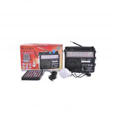 Solar Energy System with AM/FM/SW1-8 10 USB/SD/TF MP3 Player Rechargeable Battery Radio 6v-1.5wSolar Panel 2.85m wire LE