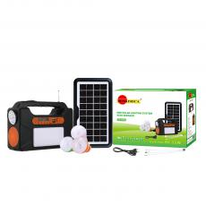 SA-7797 SUNAFRICA Hot Sale 3.5W 9V  Polycrystallians Home SolarEnergey System  with Energy Host  Solar Panel 3000mAh Battery  3 Set of Light Bulb 3*10cs*5730SMD  One Front Light with COB  USB/TF/FM /LED Display /Bluetooth/Aerial 3 M Chargi