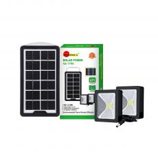 SA-7790 Mini Portable 6V 3.5W Home Solar Lighting System with  2 Pcs Cob Reflector Lights,3 Meters Wire,Switch,3000Mah Battery, 3 DC Outputs
