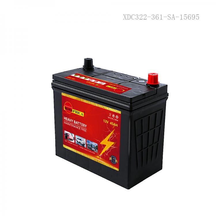 SA-46B24RS New Arrival SUN AFRICA 12V45Ah 11.1kg Maintenance-Free Car Battery 237*129*197*218mm with 5+4-L59