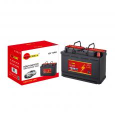 SA-57217 New Arrival SUN AFRICA 12V72Ah 15kg Maintenance-Free Car Battery 273*174*190*190mm with 5+6-L60