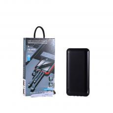 New Arrival 5V/1A Portable Power Bank Charger External Battery 3.7V/20000mAh with Built-In Lighting/PD/V8/USB 4 Charging Line V8/USB Port