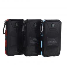 KR-S08 New Arrival 5V/2.1A ABS+PC Solar Portable Power Bank Charger with 1W Solar Panel Polymer Battery 8000mAh