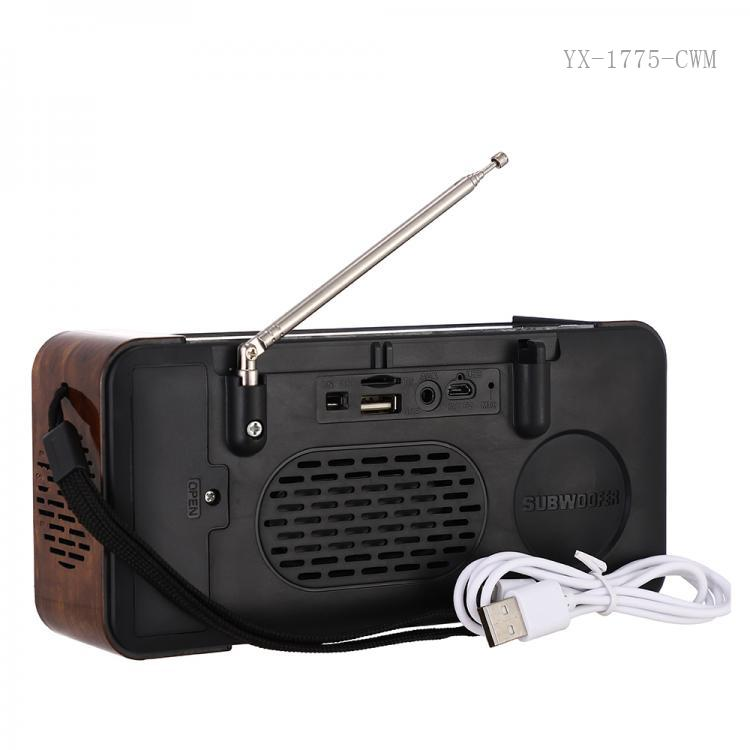 RD-02UBT Hot Sale  Solar Speaker with Aerial  Bluetooth/TF/USB/AUX/V8 /Hand-free Call  Multifunction  Led light Hanging Loop