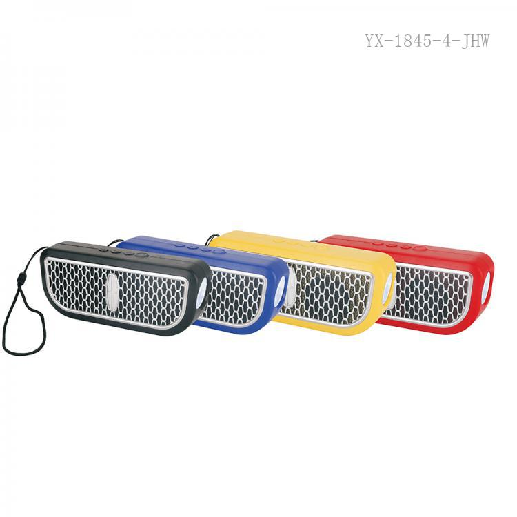 TK-4 Hot Sale  Rechargeable DC 5V 5W  Speaker  with Bluetooth/TF/ USB/FM Led Light 1000 mAh Battery Unit size 170*40*70mm