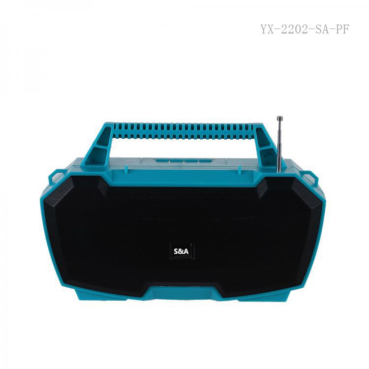SA-P30 SA-8890 P-30 New Arrival Sun Africa Portable Mini Speaker with Bluetooth/USB/TF/AUX/FM/DC5V External Antenna Handle Strap USB Charging Line 66mm 4Ω 5W Speaker Battery 3.7V 1200mAh Hot Sale Wholesale in Africa