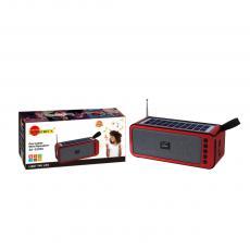 SA-S228S New Arrival SUN AFRICA Portable Mini Speaker with Bluetooth/USB/TF/AUX/FM/6V 1W Solar Panel/Flashlight 18650 Lithium Battery 1200mAh USB Charging Line