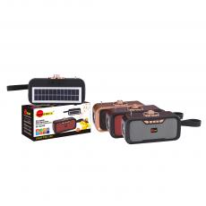 SA-S270S New Arrival SUN AFRICA Portable Mini Speaker with Bluetooth/USB/TF/AUX/DC5V/Bulb Port AM/FM/SW 5V1W Solar Panel External Antenna Flashlight 18650-Li Battery 1200mAh USB Charging Wire Silicone Rope