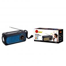 SA-8920 New Arrival SUN AFRICA Portable Mini Speaker with Bluetooth/USB/TF/DC5V/Bulb Port AM/FM/SW Solar Panel External Antenna Flashlight 18650-Li Battery 1200mAh USB Charging Wire