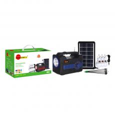 SA-8929 New Arrival SUN AFRICA Portable Solar Radio with Bluetooth/FM/AM/SW/USB/TF DC5V/MIC/3*Bulb Port External Antenna Flashlight 3.3W Solar Panel 18650 Battery 3600mAh 5W LED Bulb*3 5 In 1 Charging Wire Microphone Charging Wire