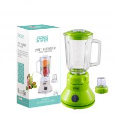 WST-2815 High Quality Cheap price 2in 1 Juicer Blender Grinder with full copper motor glass jug