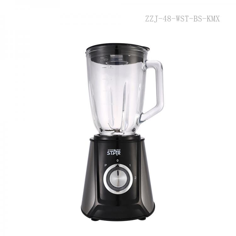 WST-607G Winning Star  Hot Sale High quality Stainless Steel Housing 2in 1  1.5L 400W Fruit Juicer Blender  with Glass Jug Grinder Cup Copper Motor  BS Plug for Home