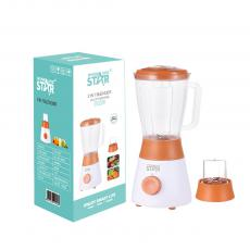 ST-5525 Winning Star  Two in one Juicer  2 knife 2 Cups with European Plug 3 Layer UV AC 220V-240V 50/ 60Hz 400W, 7025 Full Copper Motor, with 105 Degree Temperature Control Protection EMC 1.5LPC Big Cup Cross Knife Full Copper Bearing AS P