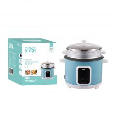 ST-9308 WINNING STAR Straight Rice Cooker 2.2L, 900W, AC 220-240V, 50/60HZ, 0.28MM Iron Shell, 350G Aluminum Inner Pot, Non-Stick Oil Coating Inside,  SS Steamer, 450G Circulation Heating Plate 0.3MM Thickness Mid Housing. BS Plug. Copper W