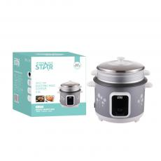 ST-9309 WINNING STAR Straight Rice Cooker 2.8L, 1000W, AC 220-240V, 50/60HZ, 0.28MM Iron Shell, 400G Aluminum Inner Pot, Non-Stick Oil Coating Inside,  SS Steamer, 480G Circulation Heating Plate 0.3MM Thickness Mid Housing. BS Plug. Copper