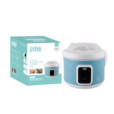 ST-9311 WINNING STAR Delux Rice Cooker 2.2L, 900W, AC 220-240V, 50/60HZ, 0.28MM Iron Shell, 300G Aluminum Inner Pot, Non-Stick Oil Coating Inside,  SS Steamer, 380G Circulation Heating Plate 0.3MM Thickness Mid Housing. VDE Plug. Copper Wir