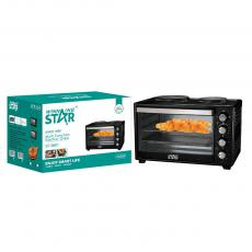 Multi Function  Countertop Electric Oven with 2  Hotplate for home