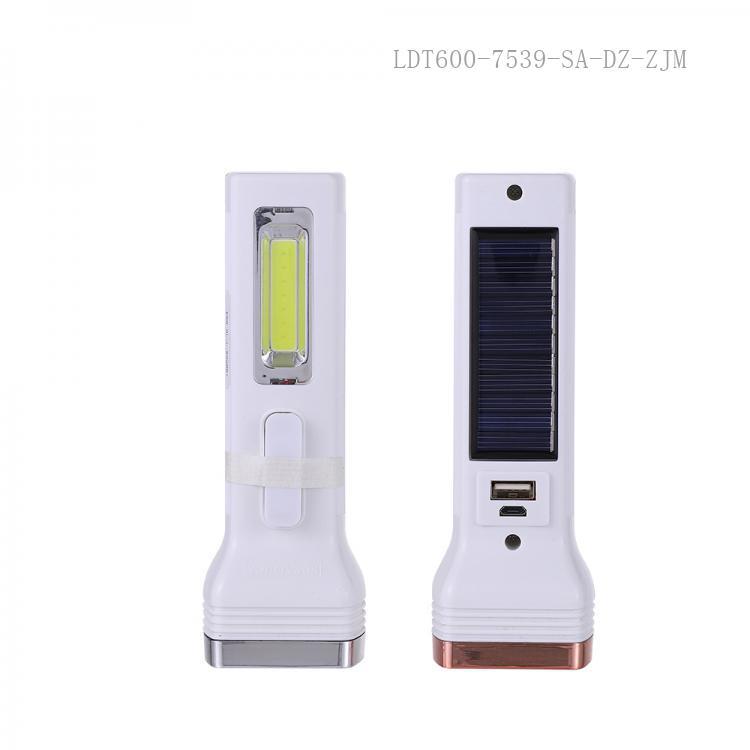 SA-764 SUN AFRICA Hot Sale  COB 1W   Solar Energy Flashlight with 1200 Lumen 3 Step Switch USB Charging Cord