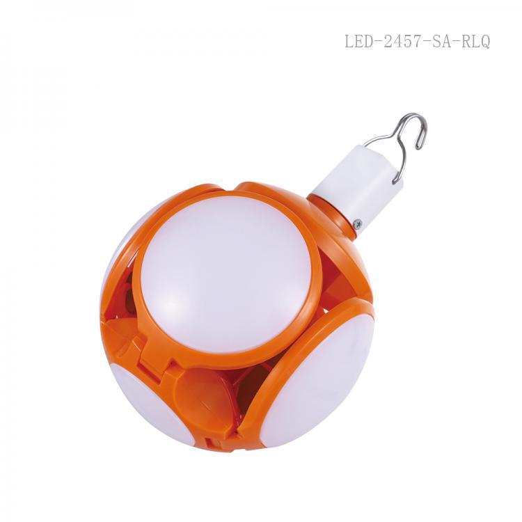SA-615 SUN AFRICA  Hot Sale DC12V  Led  Foldable UFO Rechargeable  Lamp with 72 Pcs 2835 SMD 2400 Lumen USB /V8 Socket /4 Step Switch 4 Pcs 7Cm ɸ Lamp Ball.