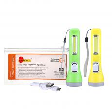 SA-713 SUN AFRICA  Hot Sale Rechargeable 1W Flashlight Torch with COB Mirrior Glass 1200 mAh  Battery  USB Charging Cord Portable Loop.