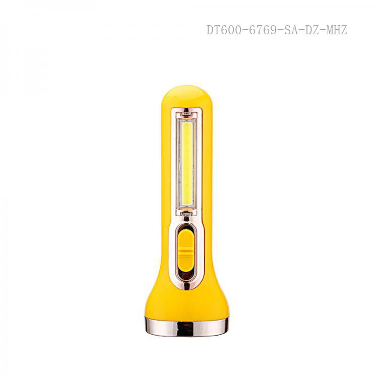 SA-719 SUNAFRICA  Hot Sale Rechargeable  with COB 1 W Aluminum Light Cup 1200 mAh Battery USB/V8 Socket Suspension loop.