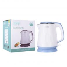 WST-1820 High Quality Double Layer Food Grade 304 SS 1.8L Electric  Kettle with  Double Crystalian Thermal Control Anti-Dry Burning Automatic Shut off Copper Cord