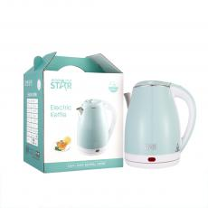 WST-0103 (BS)Quick Delivery Double Layer  Stainless Steel Electric  Kettle 1.8L with  Double Crystalian Thermal Control Anti-Dry Burning Automatic Shut off Copper Cord