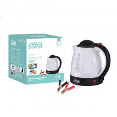 ST-6006 New Arrival Winning Star 1L DC12V 150W Kettle with PP+304# Stainless Steel, Temperature Control, Overheat Protection Automatic Power-off, Transparent Water Level Window, Filter Screen, Pure Copper Wire 1.5M. Hot Sale Wholesale in Af