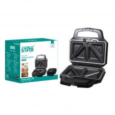 ST-9321 New Arrival WINNING STAR 220-240V 1000W Swappable Plate Sandwich Maker Donut Machine with Indicator Light*2 Different Plate*5 Automatic Temperature Control 80cm Power Line VDE Plug