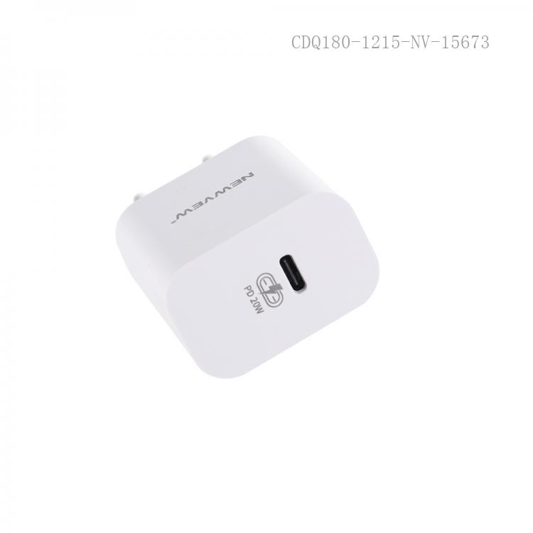 NV-A0005 New Arrival NEWVEW Power Adapter Charger with TYPE-C Port Round Plug