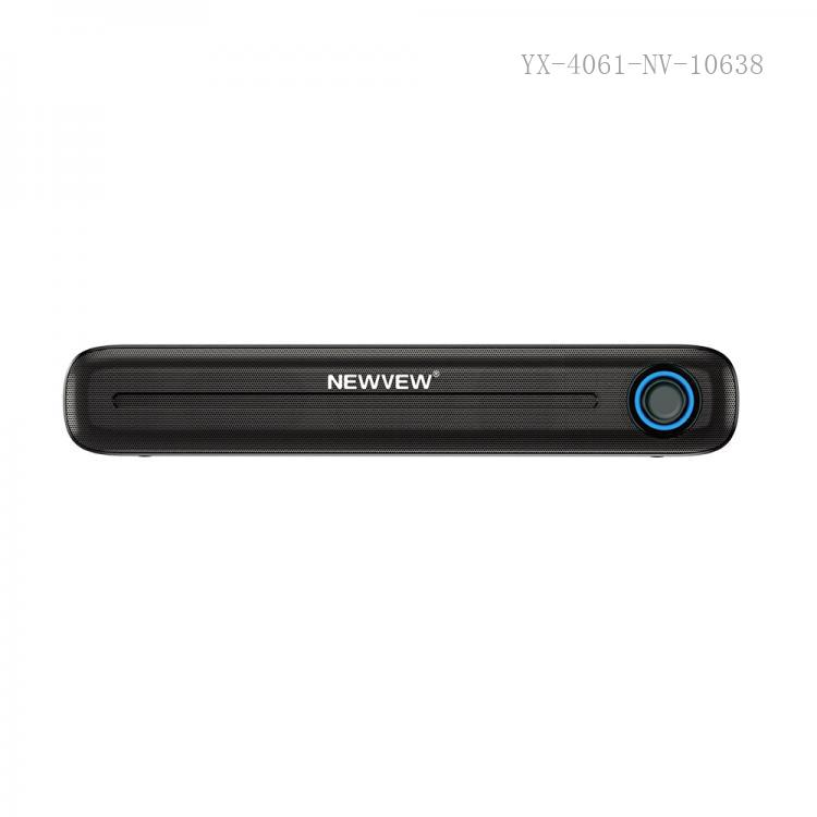 NV-8923 New Arrival NEWVEW ABS Portable Mini Speaker with Bluetooth/USB/TF/AUX/DC5V 5W Speaker*2  Battery 1800mAh USB Charging Wire DC Clip Charging