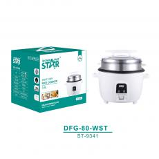 ST-9340 New Arrival WINNING STAR 1300W White Electric Pot Style Rice Cooker Steamer Multicooker 3.6L with Thicken Anti-Dry Heating Plate Cook 3L Rice BS Plug