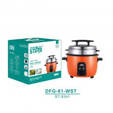 ST-9341 New Arrival WINNING STAR 1300W Orange Electric Pot Style Rice Cooker Steamer Multicooker 3.6L with Thicken Anti-Dry Heating Plate Cook 3L Rice BS Plug