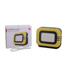SJ-M3 New Arrival Portable Rechargeable Solar LED Multi-Functional Waterproof Work Light with 28*2835 Lamp Bead Power Indicator Light 18650 Lithium Battery 6000mAh 3 Step Lighting Switch Yellow/White Light Switch Red/Blue Flashing Switch TY