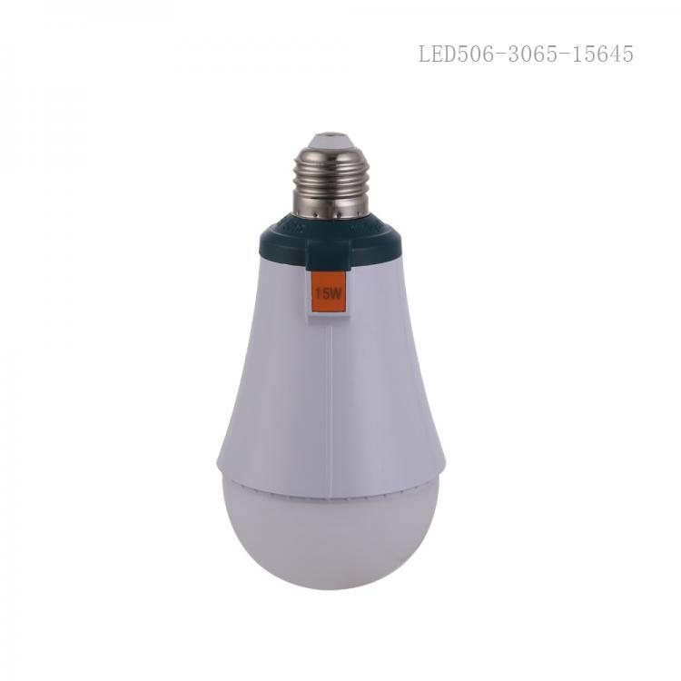New Arrival AC 15W LED Clamshell Emergency Light Screw with 30*2835/5730 Lamp Bead 18650 Lithium Battery 1200mAh*2
