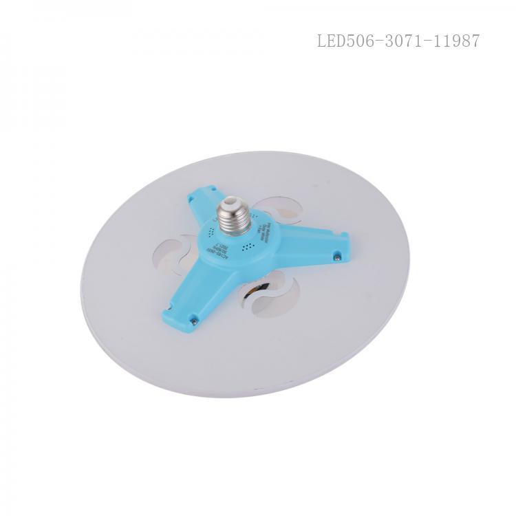 New Arrival AC165V-265V 45W LED Multifunctional Fan Lamp Screw with Spotlight*3 + Fan