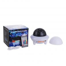 New Arrival LED Rechargeable Starry Sky Light with DC5V/USB Port Bluetooth Speaker Color/White Flashing Light Remote Control Charging Wire