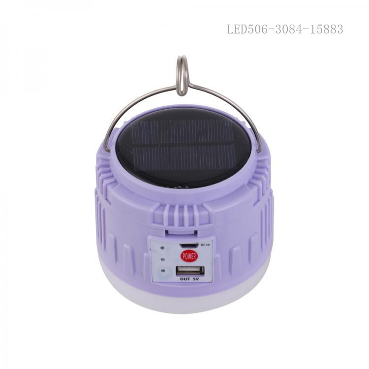 XC30 New Arrival 30W LED Solar Camping Light with 40*2835 Lamp Bead 18650 Lithium Battery 1200mAh*2 DC5V/Micro/USB Port 4 Step Button Switch Data Line