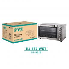 ST-9616 New Arrival WINNING STAR 220V-240V 1700W 50L 430 Stainless Steel Electric Oven with 60min Timer/70-250℃ Temperature/Rotation/Multi-Function Control Knob Baking Pan Roast Rack 1m Power Cable VDE Plug