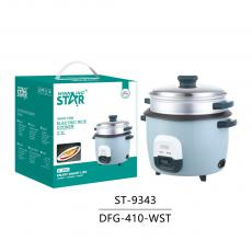 ST-9343 New Arrival WINNING STAR 900W Electric Pot Style Rice Cooker Steamer Multicooker 2.2L with Rice Measuring Cup/Scoop Plastic Steamer Tray 1.2m Copper Power Cable VDE Plug