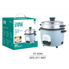 ST-9344 New Arrival WINNING STAR 1000W Electric Pot Style Rice Cooker Steamer Multicooker 2.8L with Rice Measuring Cup/Scoop LED Light 1.2m Copper Power Cable VDE Plug