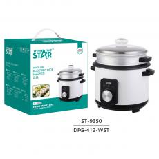 ST-9350 New Arrival WINNING STAR 900W Electric Pot Style Rice Cooker Steamer Multicooker 2.2L with Rice Measuring Cup/Scoop LED Light 1.2m Copper Power Cable VDE Plug